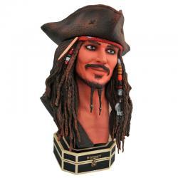 Busto 1/2 Jack Sparrow Legends in 3D Piratas del Caribe Disney 25cm - Imagen 1