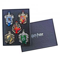 Set 5 adornos Navidad Hogwarts Harry Potter - Imagen 1