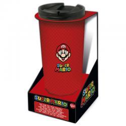 Vaso cafe acero inoxidable Super Mario Bros Nintendo 425ml - Imagen 1