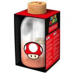 Botella cristal Super Mario Bros Nintendo 620ml - Imagen 1