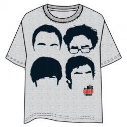 Camiseta The Big Bang Theory siluetas adulto - Imagen 1
