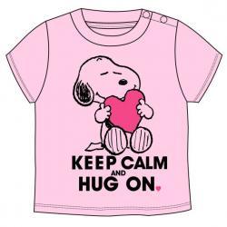 Camiseta Snoopy Rosa bebe - Imagen 1
