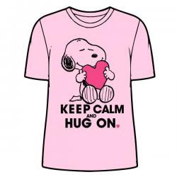 Camiseta Snoopy Pink adulto mujer - Imagen 1