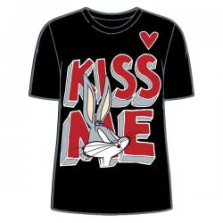 Camiseta Kiss Bugs Bunny Looney Tunes adulto mujer - Imagen 1