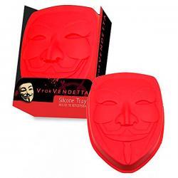 Molde silicona mascara V de Vendetta - Imagen 1