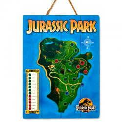 Cartel madera Woodart 3D Print Isla Nublar Jurassic Park - Imagen 1