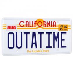 Replica matricula DeLorean Outatime Regreso al Futuro - Imagen 1