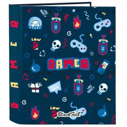 Carpeta A4 Blackfit8 Gaming anillas lomo ancho - Imagen 1