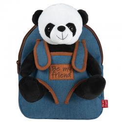 Mochila + peluche Panda Paul 27cm - Imagen 1