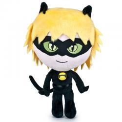 Peluche Cat Noir Prodigiosa Ladybug soft 24cm - Imagen 1