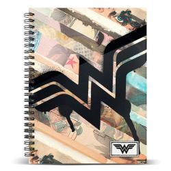 Cuaderno A5 Wonder Woman DC Comics Collage - Imagen 1