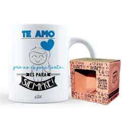 Taza Te Amo azul - Imagen 1