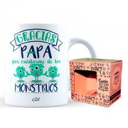 Taza Gracias Papa Por Cuidarme De Los Mostruos - Imagen 1