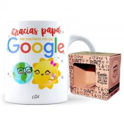 Taza Gracias Papa Por Enseñarme Mas Que Google - Imagen 1