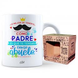Taza Lo Mejor De Tenerte Como Padre Es Que Te Tengan Como Abuelo - Imagen 1