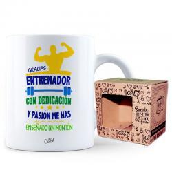 Taza Gracias Entrenador Con Dedicacion - Imagen 1