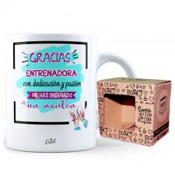 Taza Gracias Entrenadora Con Dedicacion - Imagen 1