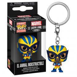 Llavero Pocket POP Marvel Luchadores Wolverine El Animal Indestructible - Imagen 1