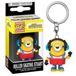 Llavero Pocket POP Minions 2 Roller Skating Stuart - Imagen 1